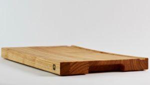Schneidebrett Holze Esche Massivholz mit Rinne, Holzquadrat OHG