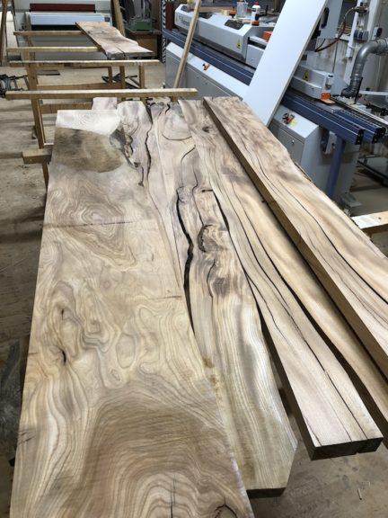 Holz für Ulme Rüster Tisch - Holzquadrat OHG