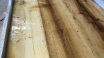 Altholz Spritzschuzt mit Epoxidharz- Holzquadrat OHG
