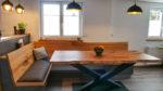 Esstisch aus Ulme mit Epoxidharz - Holzquadrat OHG