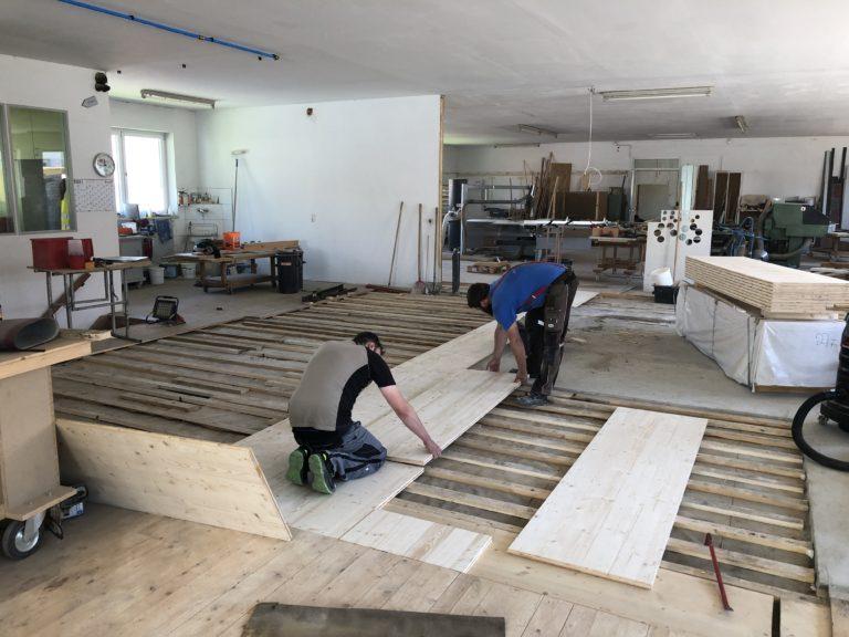 Umbau Werkstatt, Schreinerei, Tischlerei Maschinenraum - Holzquadrat OHG